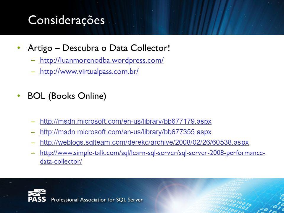 Considerações Artigo – Descubra o Data Collector.