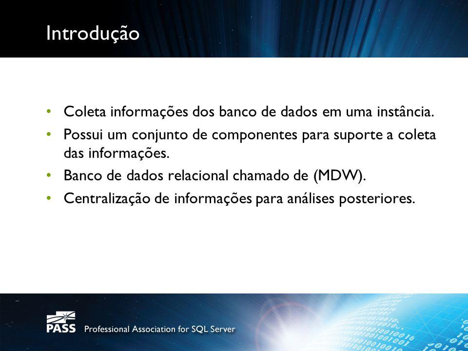Introdução Coleta informações dos banco de dados em uma instância.