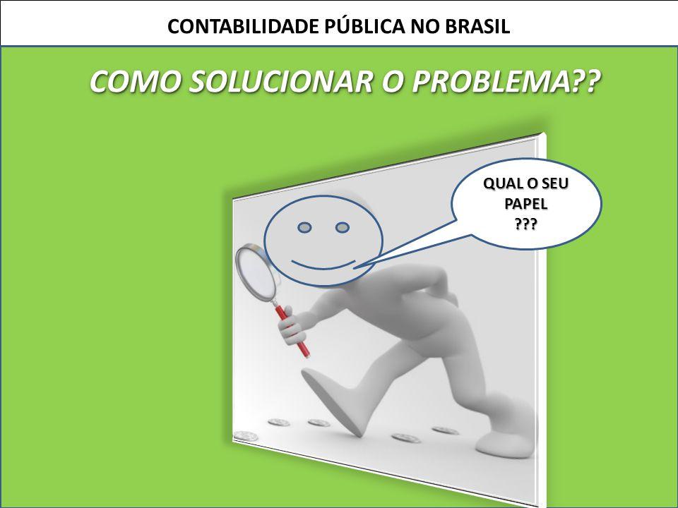 16 CONTABILIDADE PÚBLICA NO BRASIL COMO SOLUCIONAR O PROBLEMA?? QUAL O SEU PAPEL ???
