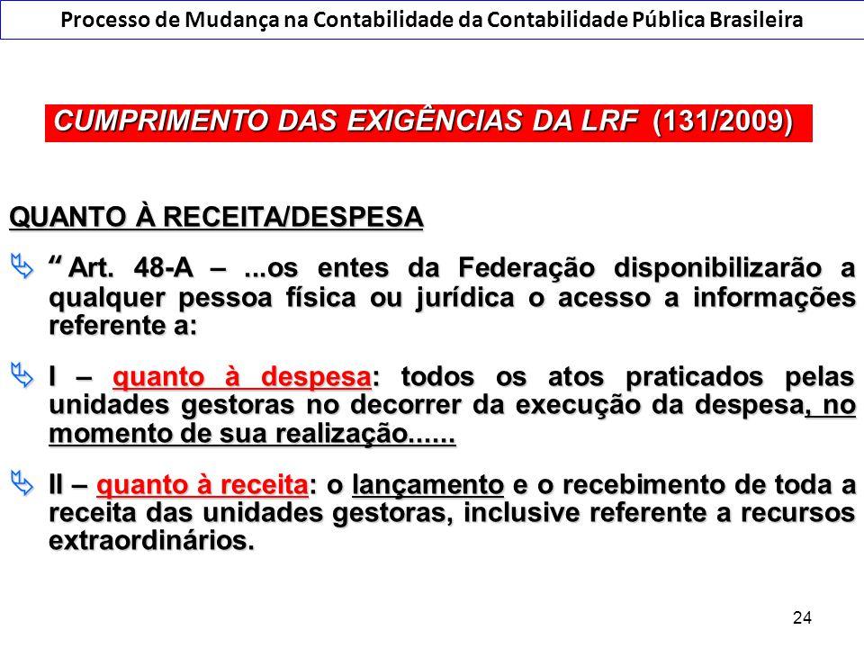 """O Regime de Competência na LRF... QUANTO À RECEITA/DESPESA  """"Art. 48-A –...os entes da Federação disponibilizarão a qualquer pessoa física ou jurídic"""