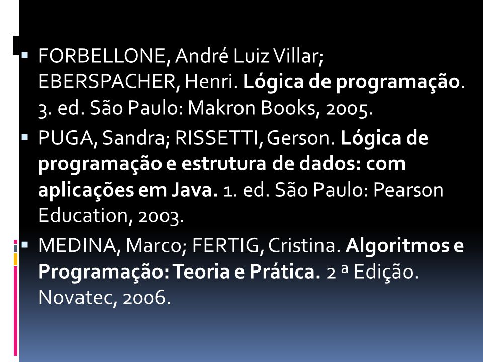  FORBELLONE, André Luiz Villar; EBERSPACHER, Henri.