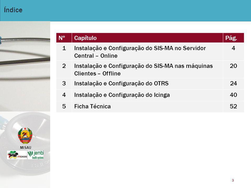 MISAU 4 Instalação e Configuração do SIS-MA no Servidor Central – Online