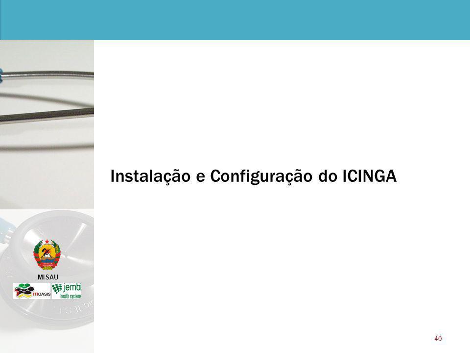 MISAU 40 Instalação e Configuração do ICINGA