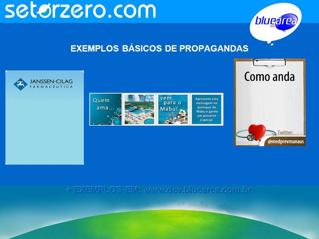 EXEMPLOS BÁSICOS DE PROPAGANDAS