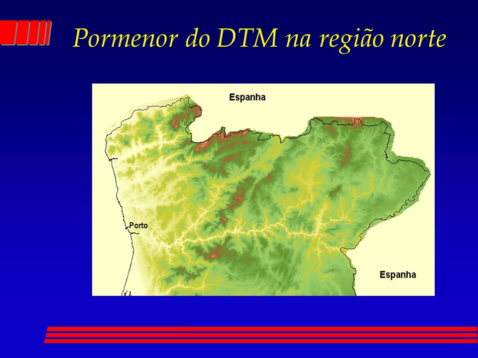 Pormenor do DTM na região norte