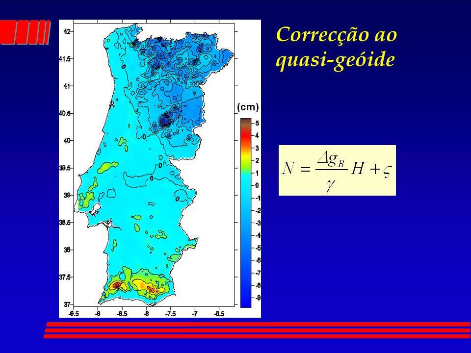 Correcção ao quasi-geóide (cm)