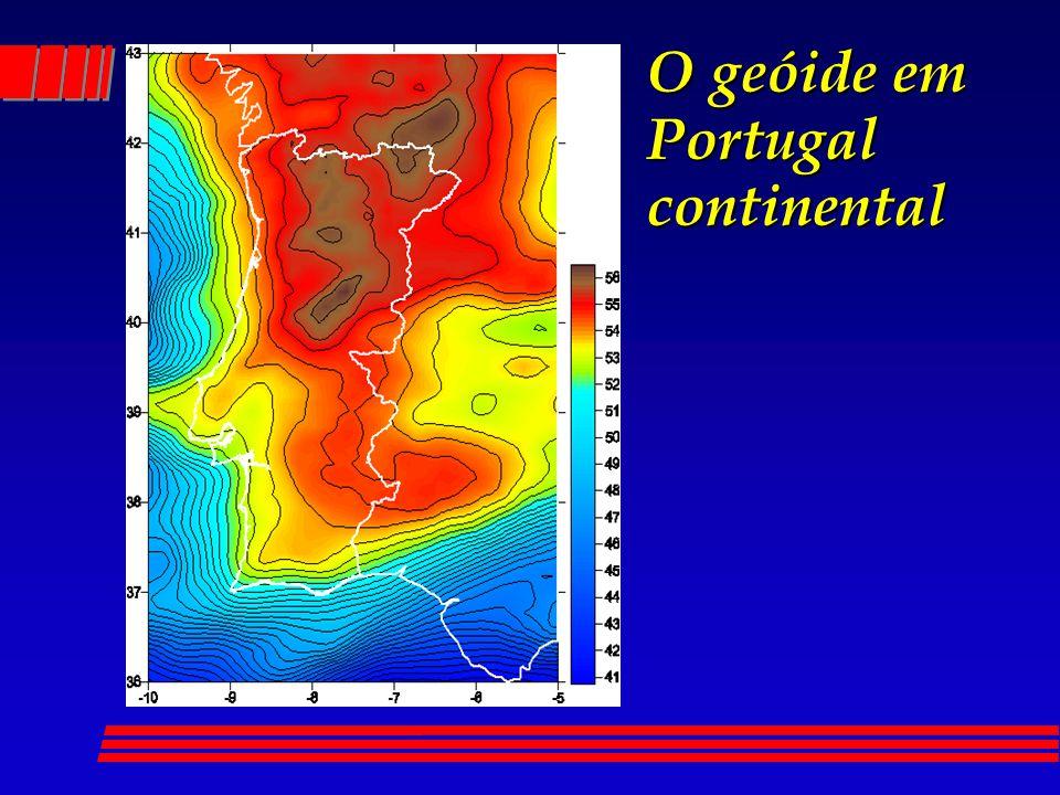 O geóide em Portugal continental