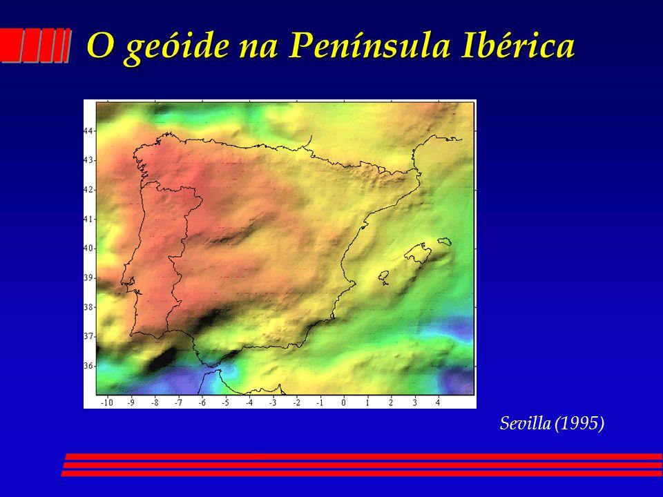 O geóide na Península Ibérica Sevilla (1995)