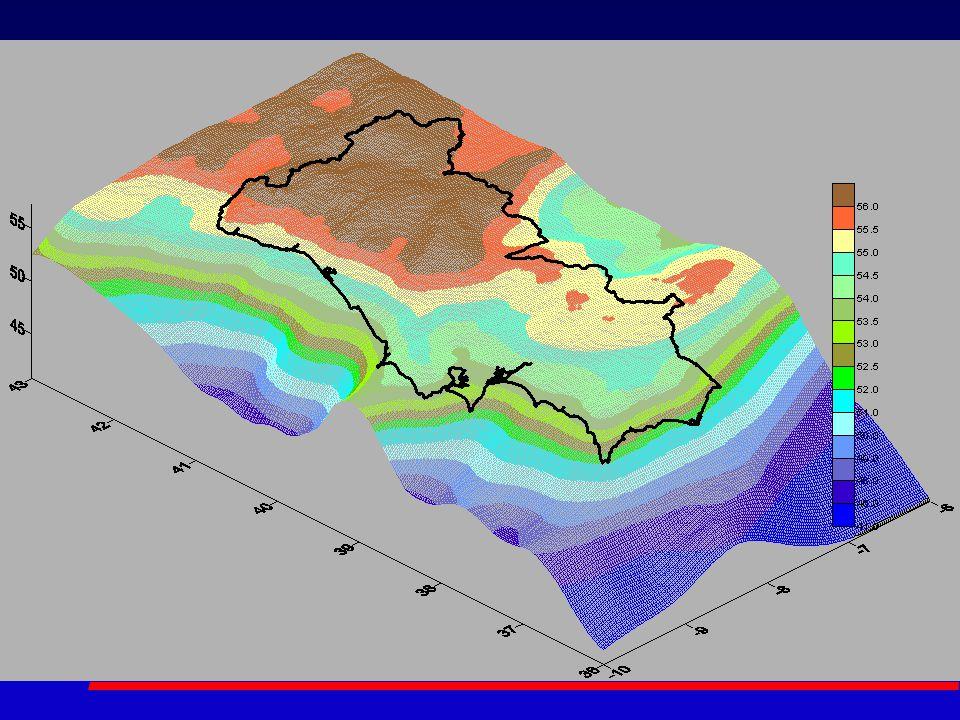 Validação do geóide em Portugal continental EGM96 – Modelo EGM96 FFT1D – Transformada de Fourier 1D Astrog – Geóide Astrogeodésico FFT2D – Transformada de Fourier