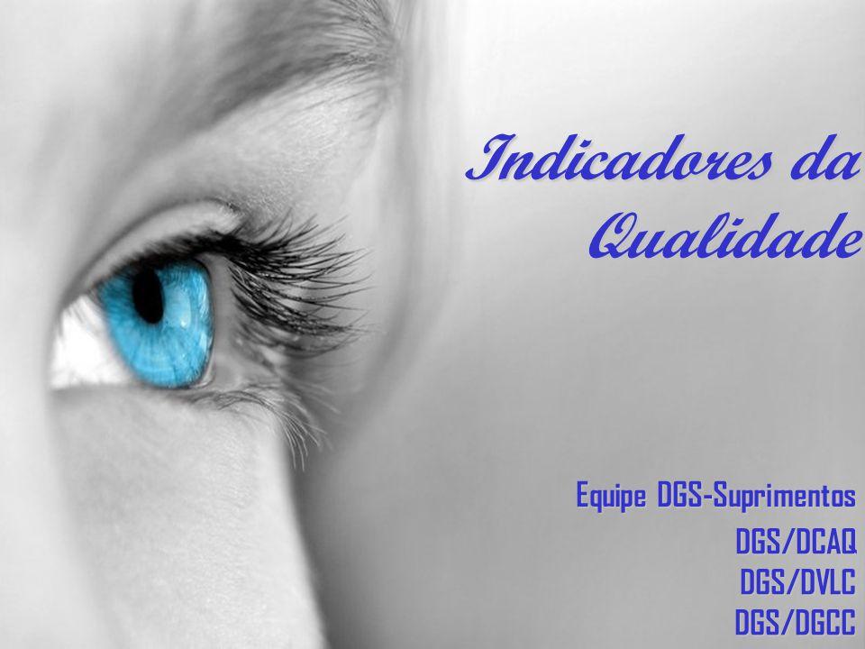 Equipe DGS-Suprimentos DGS/DCAQDGS/DVLCDGS/DGCC Indicadores da Qualidade