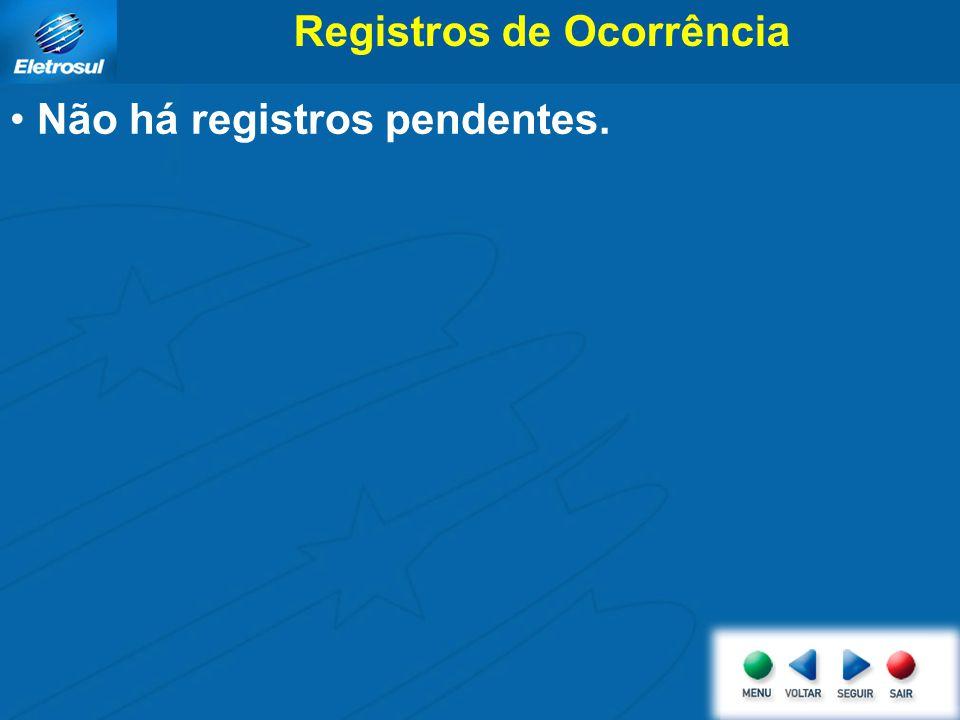 Registros de Ocorrência Não há registros pendentes.