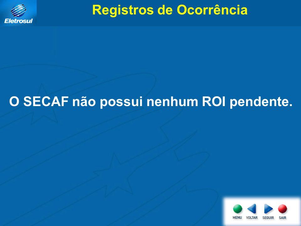 Registros de Ocorrência O SECAF não possui nenhum ROI pendente.