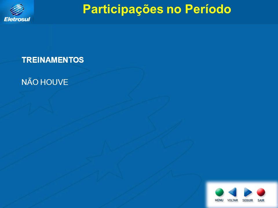 Participações no Período TREINAMENTOS NÃO HOUVE