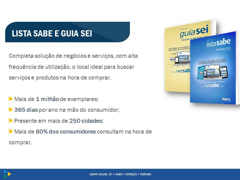 LISTA SABE E GUIA SEI Completa solução de negócios e serviços, com alta frequência de utilização, o local ideal para buscar serviços e produtos na hor