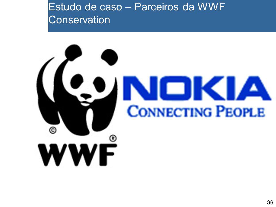 36 Estudo de caso – Parceiros da WWF Conservation