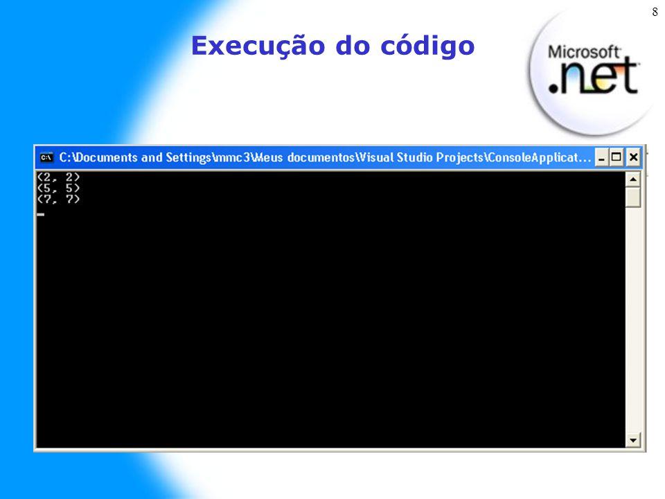 8 Execução do código