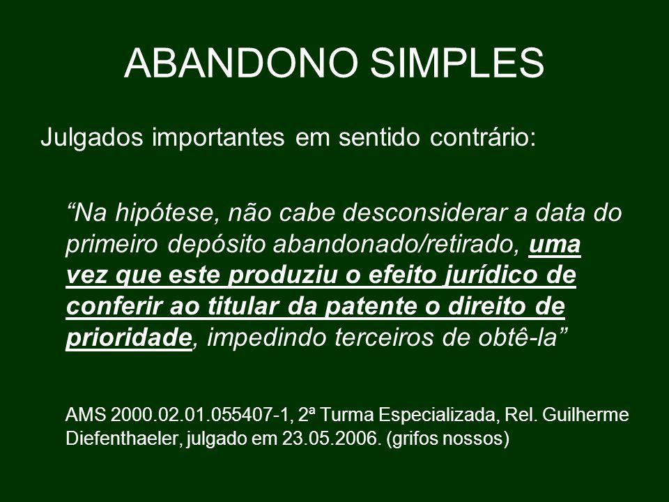 ABANDONO SIMPLES A regra do §1º, do art.