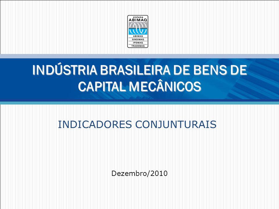 Faturamento Bruto mensal R$ milhões constantes DEEE – Departamento de Competitividade, Economia e Estatística 2 Dez/2010 = R$ 6.766 milhões +7,2% sobre Nov/10 4,1% sobre Dez/09 Jan-Dez/2010 = R$ 72.794 milhões (+9,6% s/ 2009) Fonte: DEEE/ABIMAQ.
