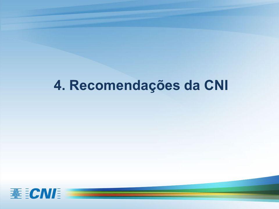 4. Recomendações da CNI