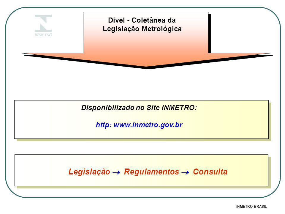 Disponibilizado no Site INMETRO: http: www.inmetro.gov.br Divel - Coletânea da Legislação Metrológica INMETRO-BRASIL   Legislação  Regulamentos  Consulta