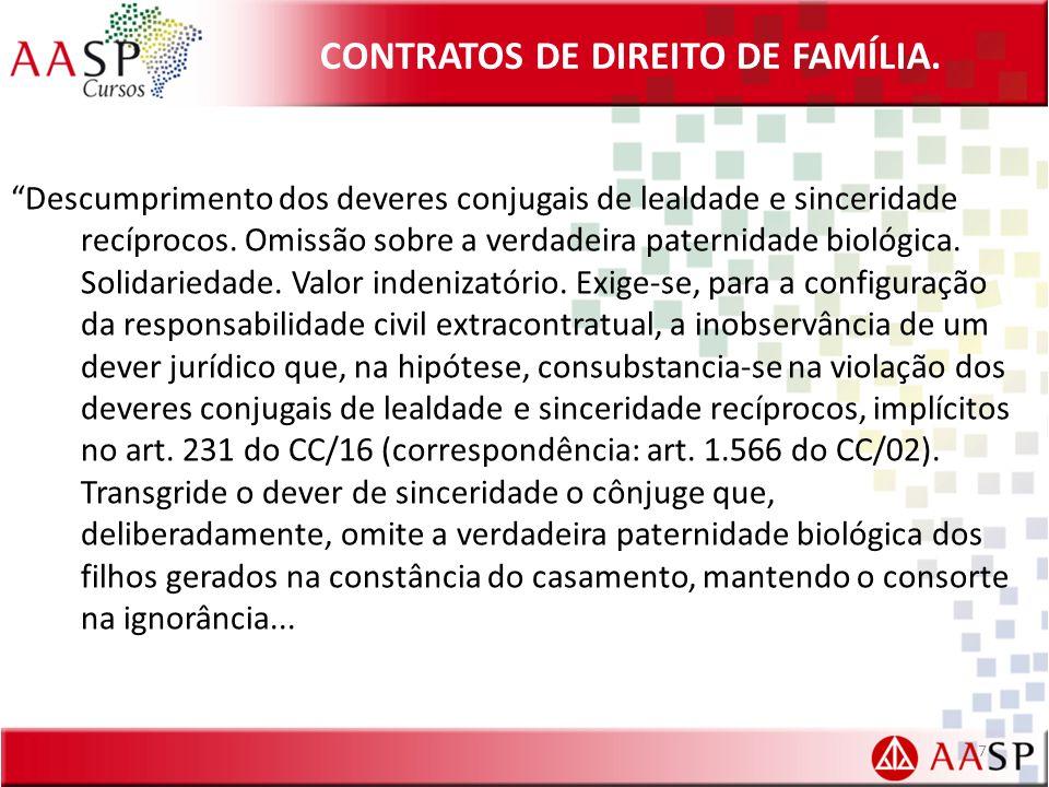 CONTRATOS DE DIREITO DE FAMÍLIA.CLÁUSULAS ESPECIAIS DO CONTRATO DE CONVIVÊNCIA (FRANCISCO CAHALI).