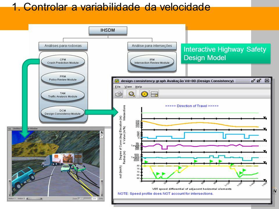 1. Controlar a variabilidade da velocidade Interactive Highway Safety Design Model