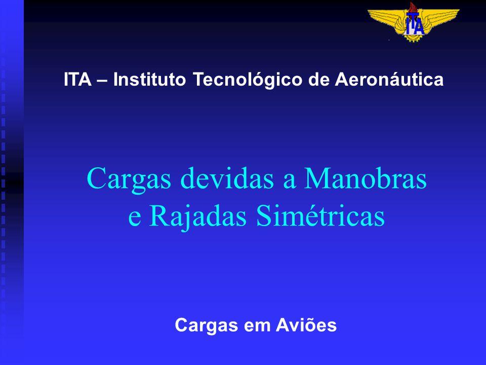 Cargas devidas a Manobras e Rajadas Simétricas Cargas em Aviões ITA – Instituto Tecnológico de Aeronáutica