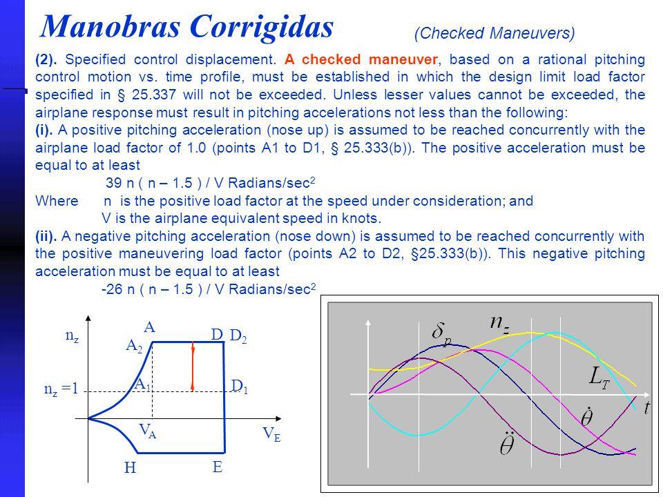 Manobras Corrigidas (Checked Maneuvers) (2).Specified control displacement.