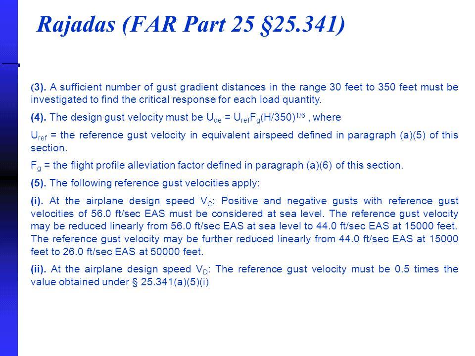 Rajadas (FAR Part 25 §25.341) ( 3).