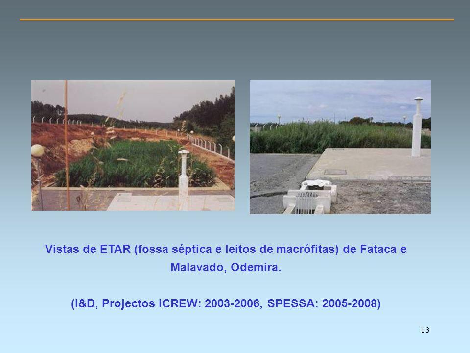 13 Vistas de ETAR (fossa séptica e leitos de macrófitas) de Fataca e Malavado, Odemira.