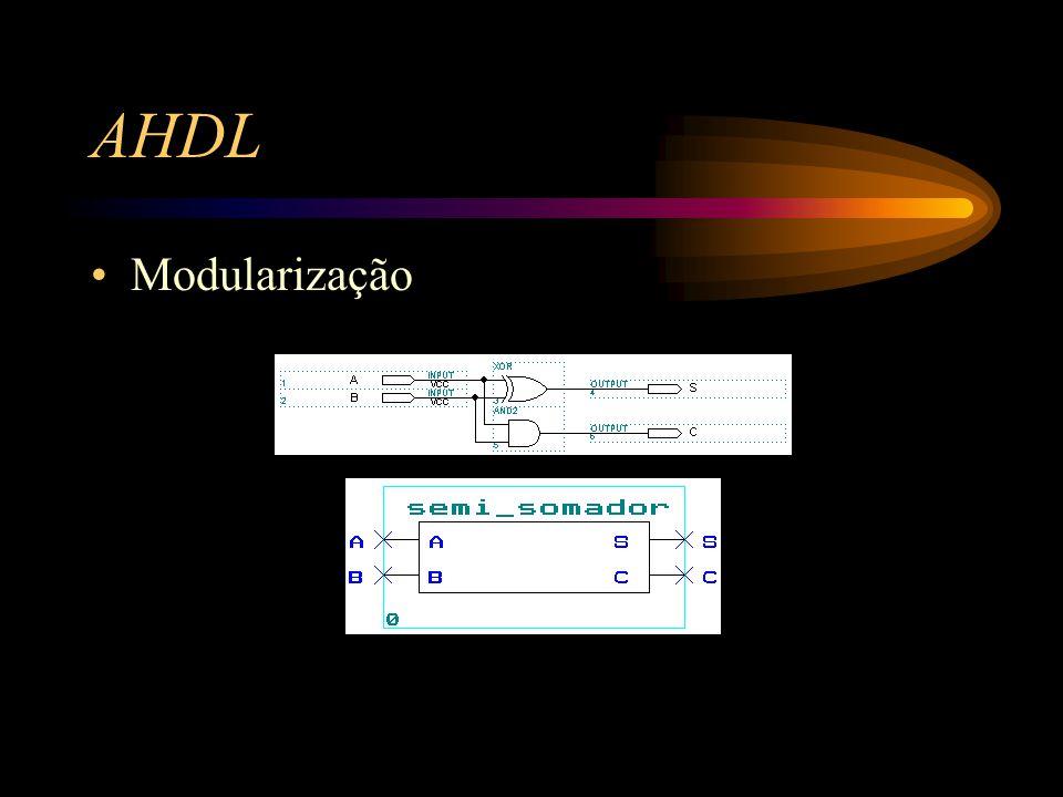 AHDL Modularização
