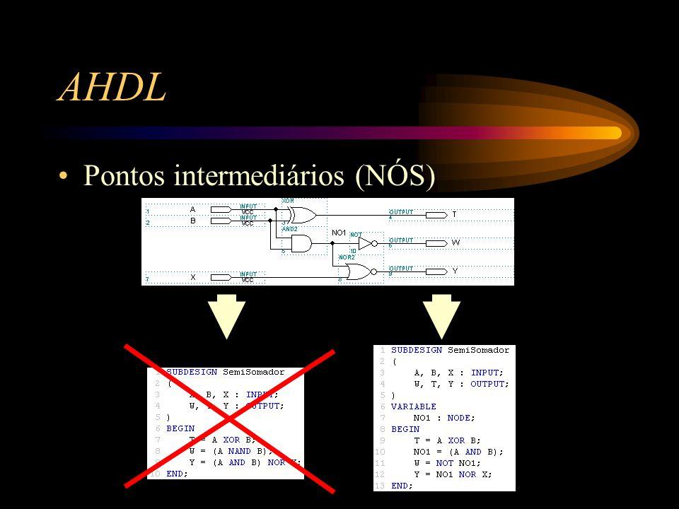 AHDL Pontos intermediários (NÓS)