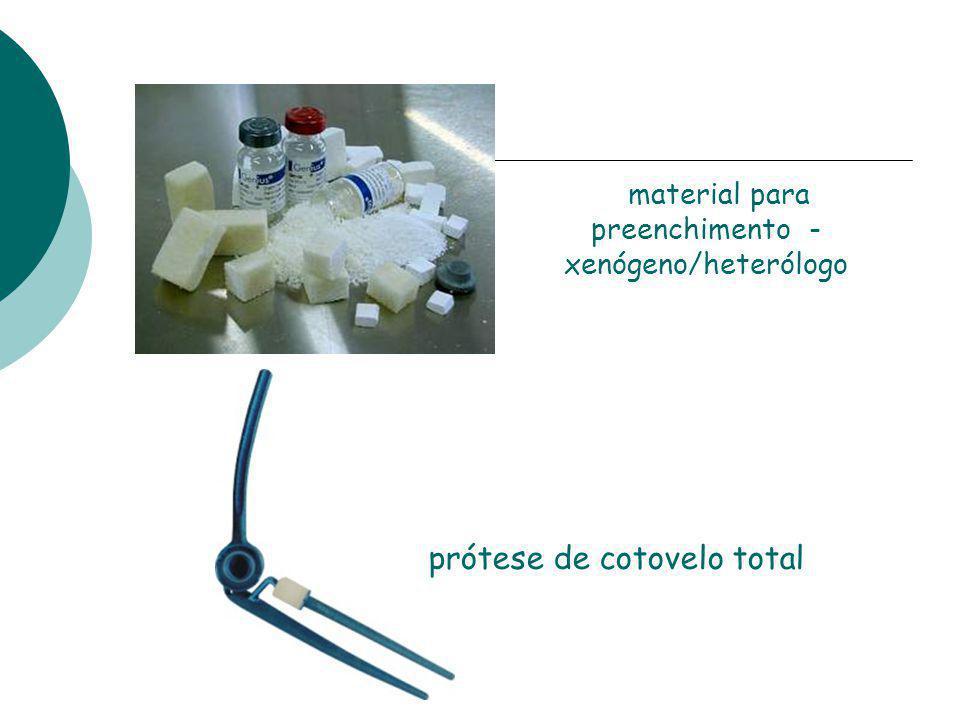 prótese de cotovelo total material para preenchimento - xenógeno/heterólogo