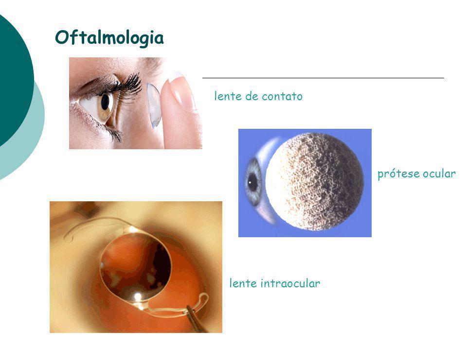 Oftalmologia prótese ocular lente intraocular lente de contato