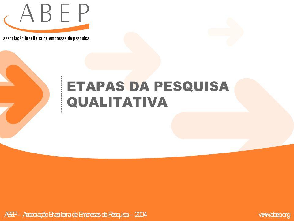 ETAPAS DA PESQUISA QUALITATIVA
