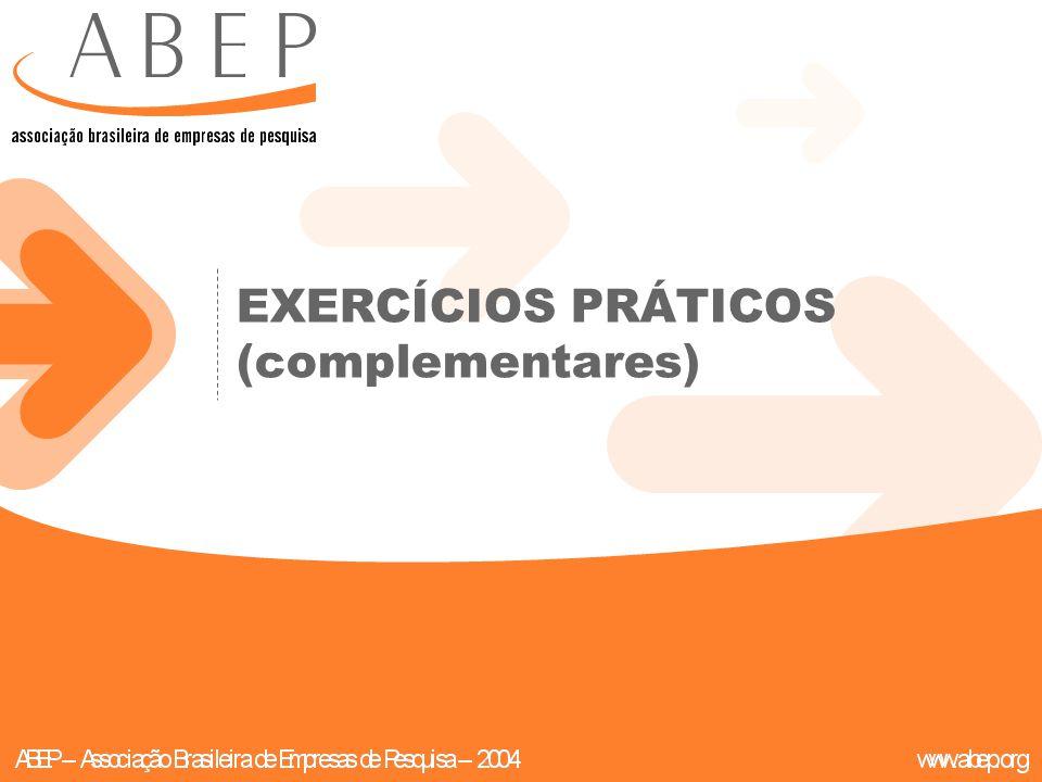 EXERCÍCIOS PRÁTICOS (complementares)