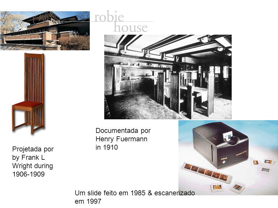 Projetada por by Frank L Wright during 1906-1909 Documentada por Henry Fuermann in 1910 Um slide feito em 1985 & escanerizado em 1997