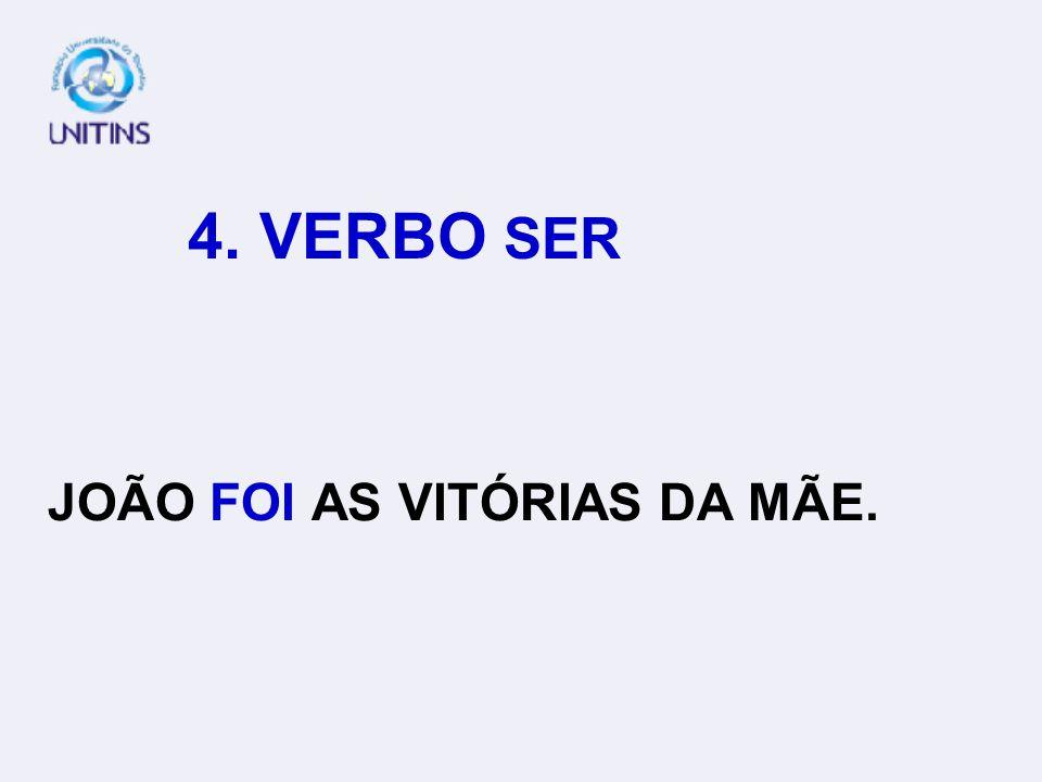 4. VERBO SER JUSTIÇA SÃO OS LOUROS DA VITÓRIA.