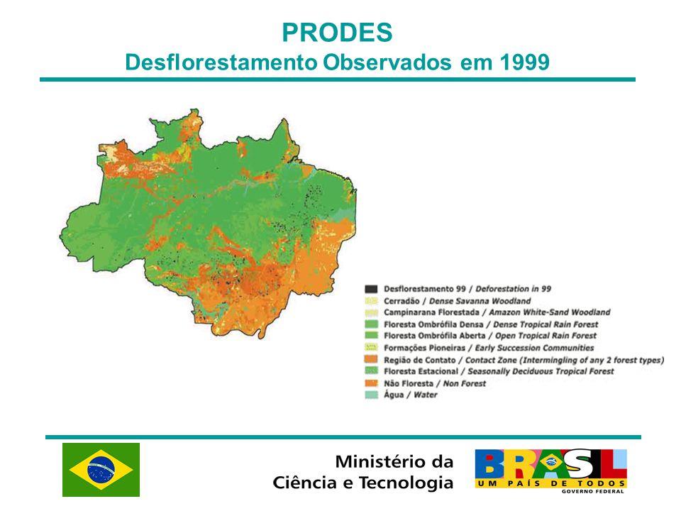 PRODES Desflorestamento Observados em 1999