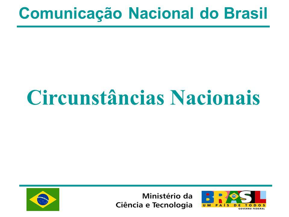 Comunicação Nacional do Brasil Circunstâncias Nacionais