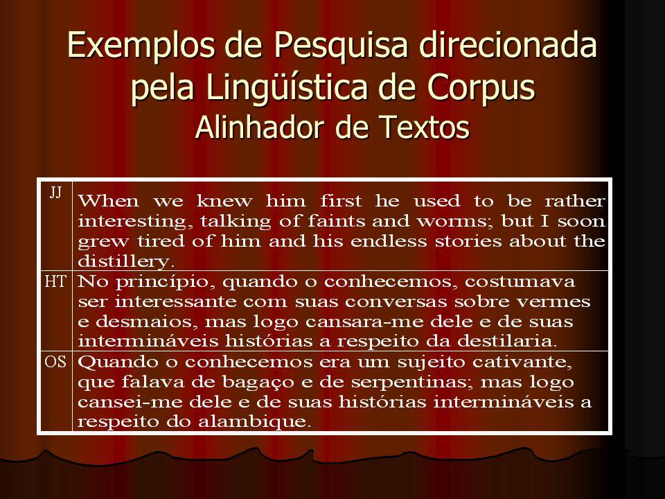 Exemplos de Pesquisa direcionada pela Lingüística de Corpus: Possibilidades de Tradução Concordâncias de man em A Mother :
