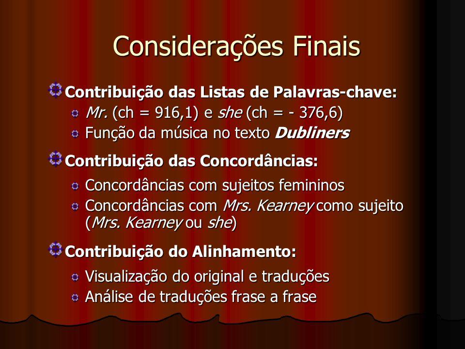 Exemplos de Pesquisa direcionada pela Lingüística de Corpus Alinhador de Textos