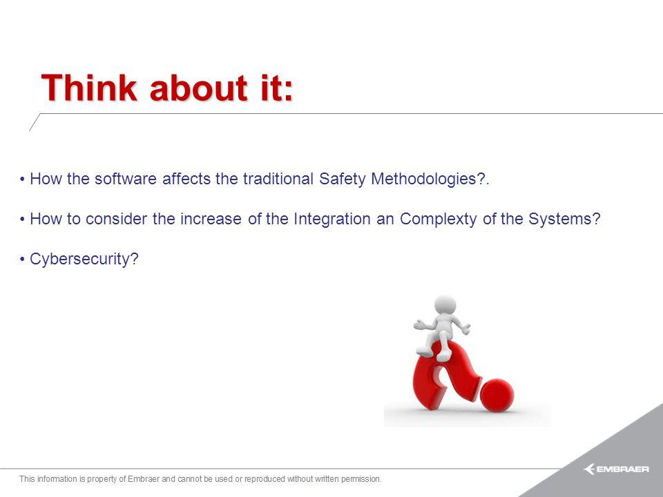 Esta informação é propriedade da Embraer e não pode ser usada ou reproduzida sem autorização por escrito. Think about it: How the software affects the
