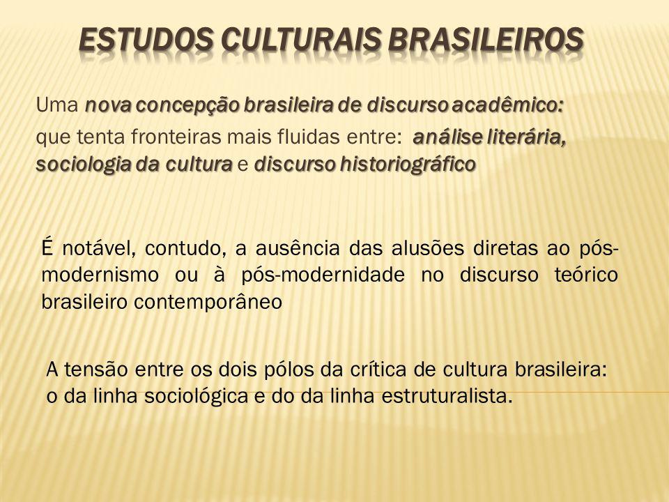 nova concepção brasileira de discurso acadêmico: Uma nova concepção brasileira de discurso acadêmico: análise literária, sociologia da cultura discurs