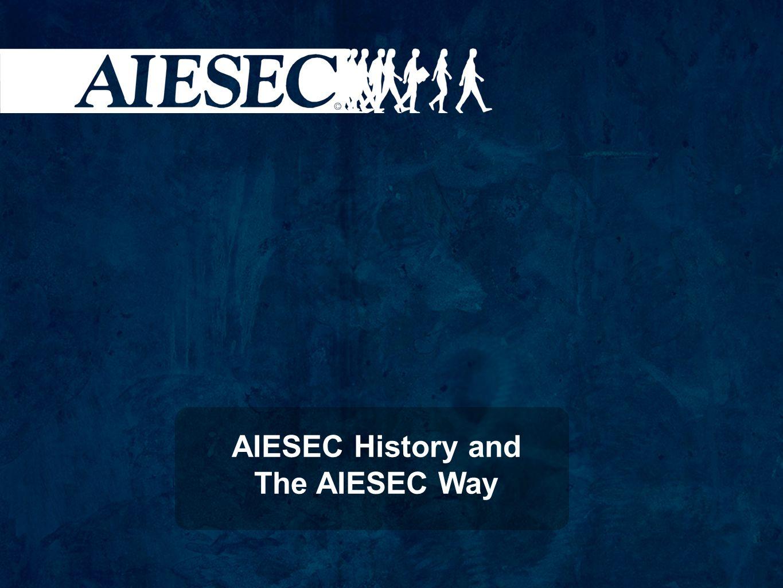 A AIESEC no mundo 64 Anos de existência +110 Países e/ou Territórios +60.000 Membros 16.000 Intercâmbios/Ano Reconhecida pela UNESCO Conselho Consultivo da ONU