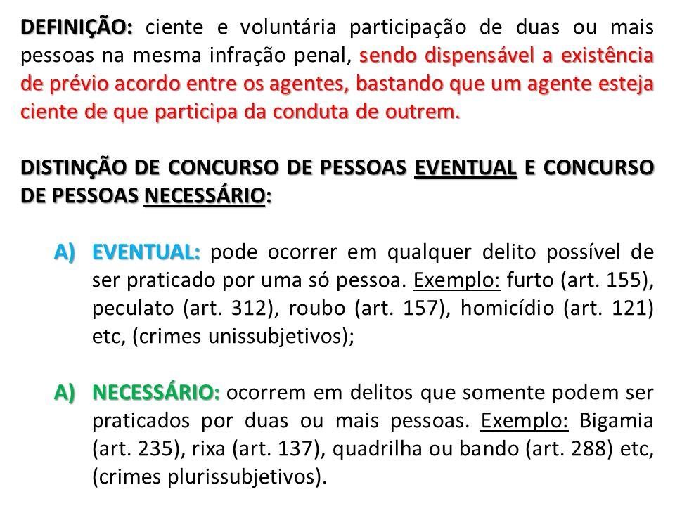CIRCUNSTÂNCIAS E ELEMENTARES NO CONCURSO DE PESSOAS (ART.