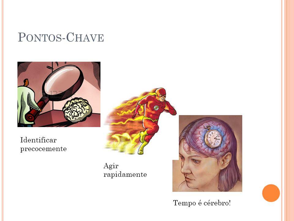 P ONTOS -C HAVE Identificar precocemente Agir rapidamente Tempo é cérebro!