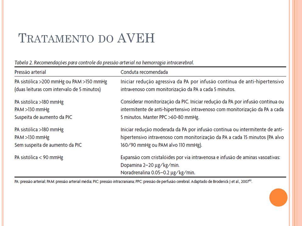 T RATAMENTO DO AVEH