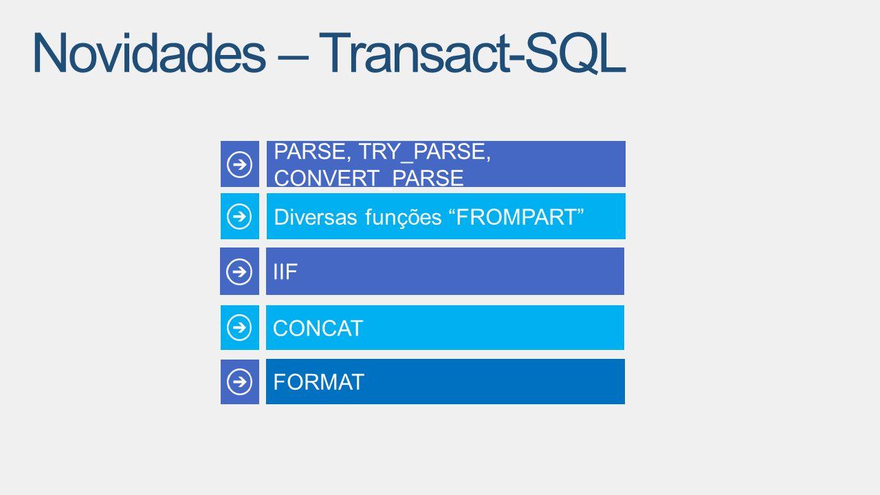 """IIF CONCAT PARSE, TRY_PARSE, CONVERT_PARSE Diversas funções """"FROMPART"""" FORMAT"""