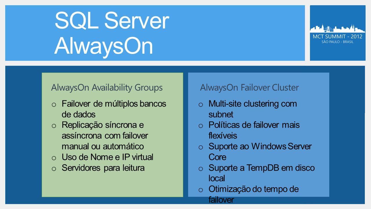 AlwaysOn Availability GroupsAlwaysOn Failover Cluster